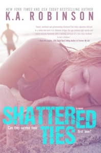 "Book review - ""Shattered Ties"" by K.A. Robinson - rushed love story of people from two different worlds"