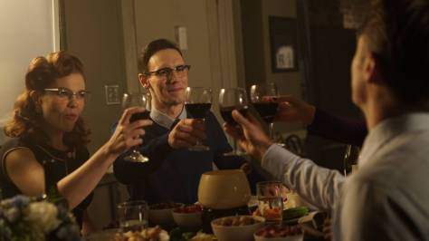 GOTHAM: L-R: Chelsea Spack and Cory Michael Smith in the ÒRise of the Villains: ScarificationÓ episode of GOTHAM airing Monday, Oct. 19 (8:00-9:00 PM ET/PT) on FOX. ©2015 Fox Broadcasting Co. Cr: FOX.