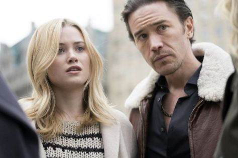 "LAW & ORDER: SPECIAL VICTIMS UNIT -- ""Fashionable Crimes"" Episode 1720 -- Pictured: (l-r) Virginia Gardner as Sally Landry, Tom Pelphrey as Matt Kroger -- (Photo by: Michael Parmelee/NBC)"